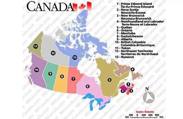 加拿大地图
