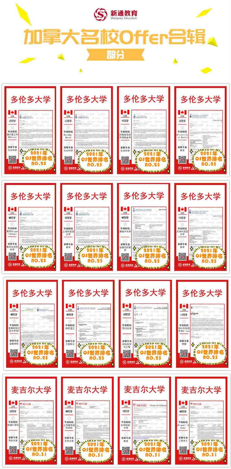 加拿大名校offer集锦(部分)1